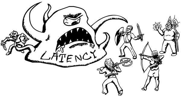 Illustration of Latency as a Monster